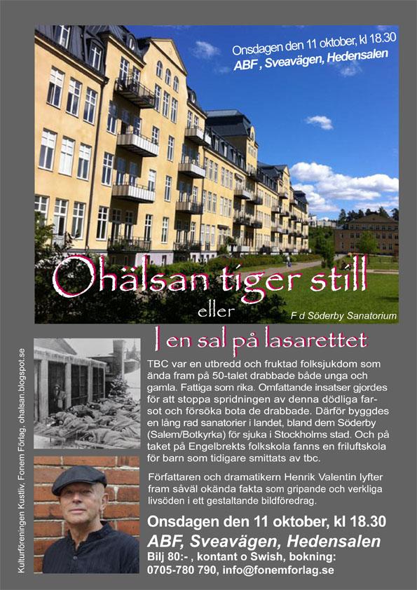 Affisch ABF Hedensalen Stockholm low